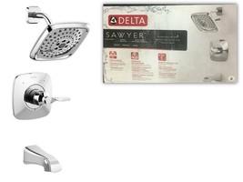 Delta Sawyer Chrome 1-Handle Bathtub and Shower Faucet w/ Valve #144766C - $153.44