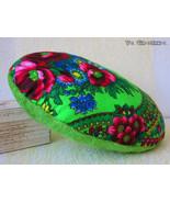 Folk Style Handmade Throw Pillow -  decorative ornament - egg shape - $20.00
