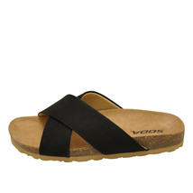 Soda MIDGE-S Black Women's Faux Suede Criss Cross Slip On Sandals - $28.95+