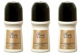 3-pc Avon Rare Gold Roll-on Anti-perspirant Deodorant 75ml (2.6 fl oz) - $11.25