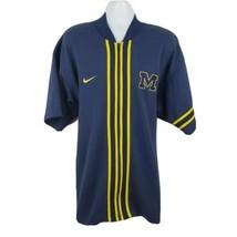 NIKE Michigan Wolverines Full Zip Short Sleeve Warmup Basketball Jacket ... - $39.48