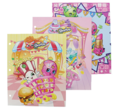 NWT Moose Shopkins School Folders Set of 3 Assorted Styles - $8.72
