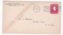 HARTSHORNE, INSLEY AND LEAKE JERSEY CITY NJ FEB 27 1907  - $2.98