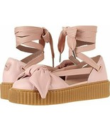 Puma Fenty by Rihanna women's bow creeper sandals sneakers laces pink si... - $39.99