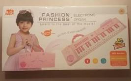 Fashion Princess Pink Folding Electronic Organ Microphone MP3 Function - $12.86