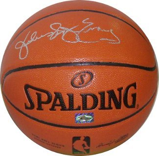 "Julius Erving signed Spalding Indoor/Outdoor New Logo Basketball ""Dr. J"" (Philad"