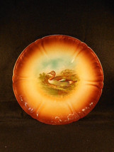 """Antique Brown German Royal Bonn Water Fowl 9 1/4"""" Plate - $34.60"""