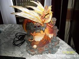 Dragon Statue Lighted Mural Skull Crystal Ball - €23,71 EUR