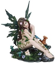 """Ebros Tribal Forest Fairy Oracle with Friends Figurine 7.25"""" Tall Faerie Garden  - $49.99"""