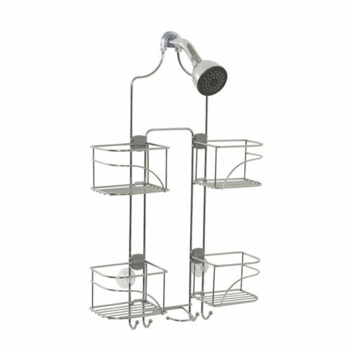 Chrome Expandable Shower Caddy Hand Held Holder Bathroom Storage Organizer Rack