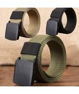 Belt Men Unisex Fashion Top Quality Outdoor Sports Nylon Automatic Buckl... - $5.99+