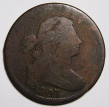 1807 Draped Bust Large Cent Scarce Coin Lot# MZ 4066