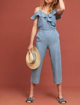 Anthropologie Michael Stars Ruffled Open-Shoulder Jumpsuit $198 - NWT - $93.49