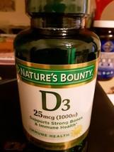 Nature's Bounty Vitamin D3 1000 IU Immune Health Supplement, 250 Softgels - $7.58