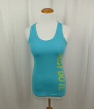 "Nike Dri Fit Blue Racerback Tank Top ""JUST DO IT"" Athletic Workout Sz Sm... - $13.98"