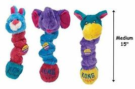 KONG Squiggles Dog Toys Colorful Plush Stretchy Squeakers Characters Var... - $19.02 CAD