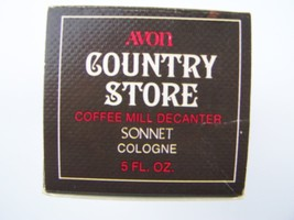 Avon Country Store Coffee Mill Decanter Sonnet Cologne 5 Fl Oz Original ... - $9.69