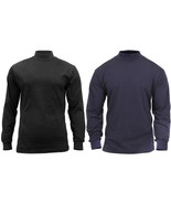 Turtleneck Warm High Collar Neck Uniform Top Long Sleeve Mock Shirt Sweater - $20.99+