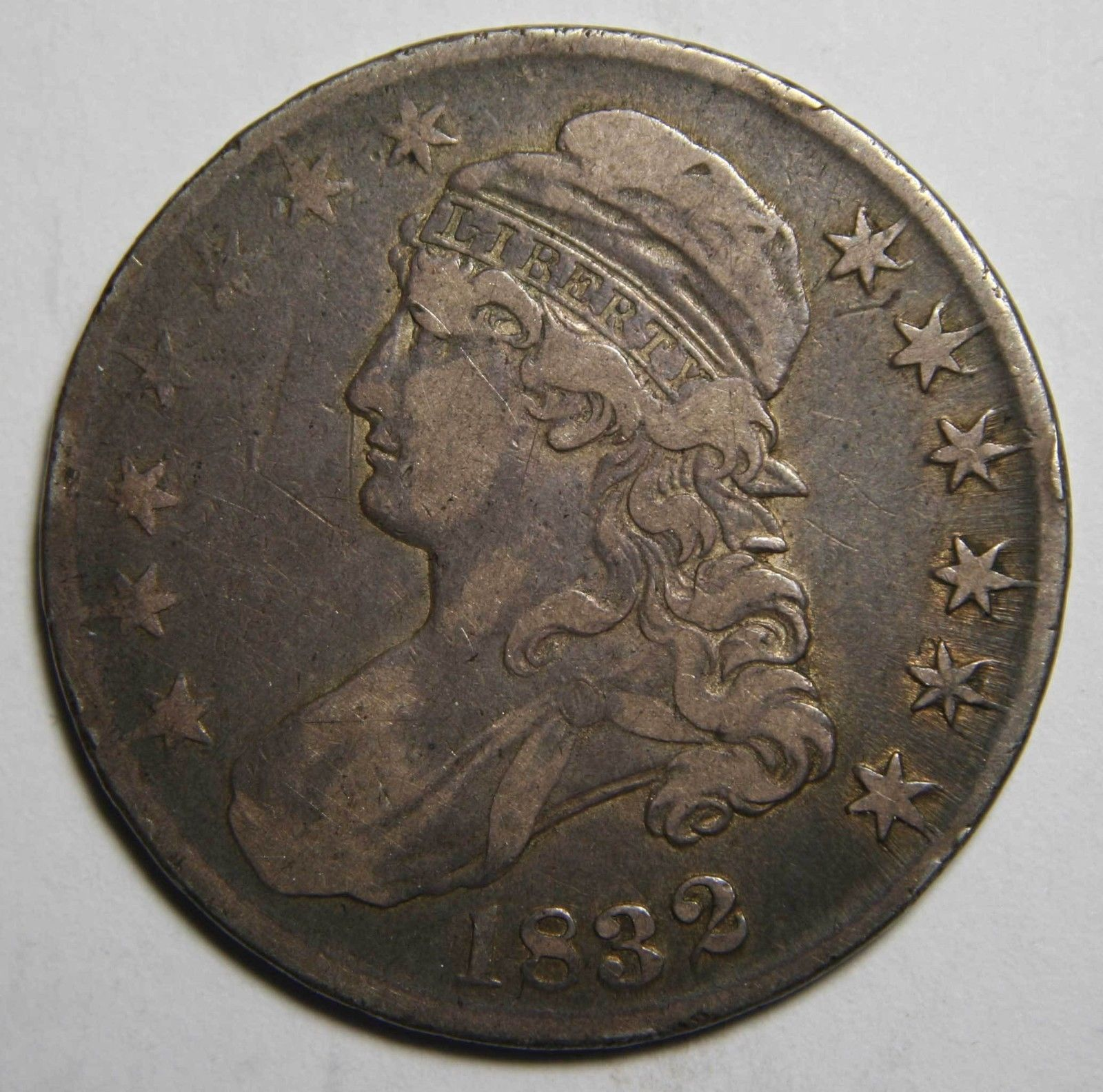1832 Capped Bust Half Dollar 50¢ Coin Lot# MZ 4138