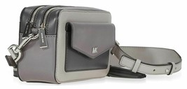 Michael Kors Ginny NWT  Shades Of Grey Camera Crossbody Bag Small Zip SC - $120.12