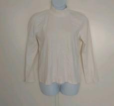 Karen Scott Women's Long Sleeve Mock Neck Winter White Top XL - $23.17