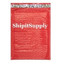 1-500 #000 4x8 Poly ( Red ) Color Bubble Padded... - $0.98 - $69.29