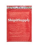 1-500 #000 4x8 Poly ( Red ) Color Bubble Padded Bubble Envelopes Mailers - $0.98+