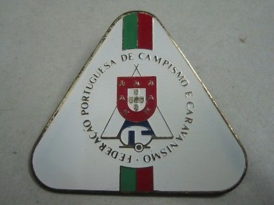 Primary image for Antique brooch Pin Portuguese Federation of Camping and Caravanning