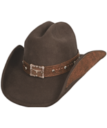 Bullhide Great Divide Wool Cowgirl Square Longhorn Concho Fancy Band Cho... - €60,16 EUR
