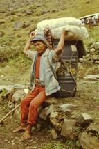 35mm Slide Annapurna Sanctuary Mountains Nepal Nepalese Guide Sherpa (#81) - $4.75