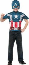 Captain America Retro Shirt Mask Superhero Halloween Child Costume Accessory - $29.45