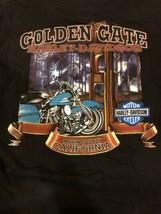 Harley Davidson Golden Gate Marin County CA Black T-Shirt SIZE L - $11.87