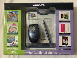Wacom Graphire 3 4x5 USB Tablet w/Pen, Mouse & Software CD's CTE430SA New Sealed - $93.53