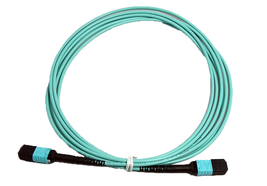 RiteAV MPO Female  - MPO Female Patch Cord, 12F, OM4, OFNP, Aqua, Crosse... - $139.32
