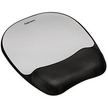 Fellowes Memory Foam Mouse Pad / Wrist Support - Silver Streak  - $18.00