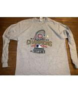 Chicago Cubs 2016 World Series Champion Gray shirt XL Long sleeve NWT New - $17.09