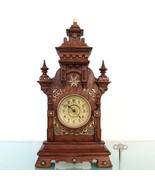 JUNGHANS Antique CLOCK Mantel 1910 BABY MINI STRIKING CHIME Castle Shape... - $449.00