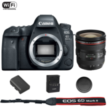 Canon Eos 6D Mark Ii Dslr Camera Body With Ef 24-70mm f/4L Is Usm Lens - $1,880.75