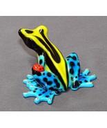 GORGEOUS BRONZE FROG FIGURINE SCULPTURE  Amphibian by Barry Stein - $386.10