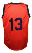 Rucker #13 retro Vintage Basketball Jersey New Sewn Orange Any Size image 4