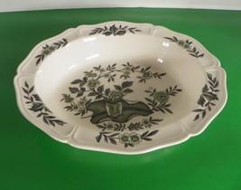 Wedgwood England GREEN LEAF Oval Vegetable Bowl Queen's Shape Barlaston - $24.70