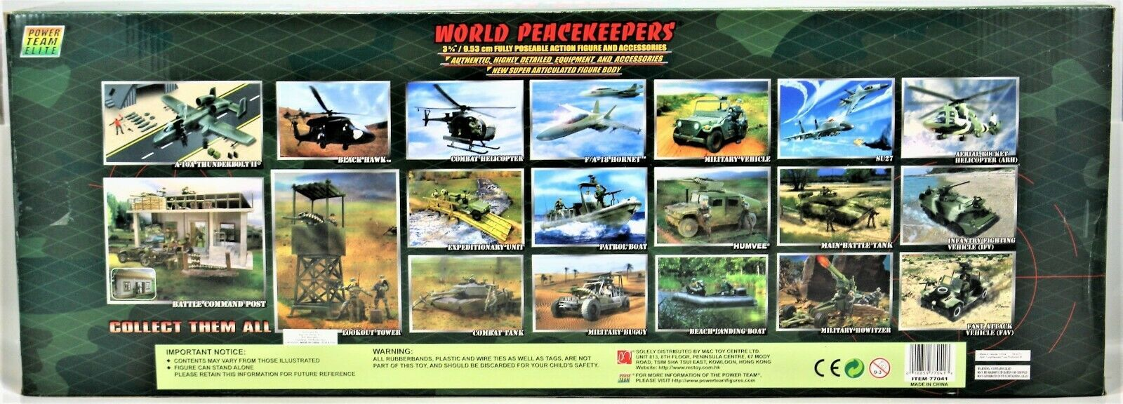 World Peacekeepers Power Team Elite Aerial Rocket Helicopter (ARH) 1:18 Scale image 9