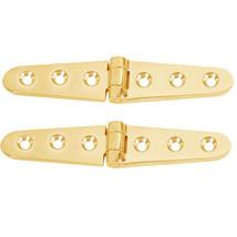 """Whitecap Strap Hinge - Polished Brass - 6"""" x 1-1/8"""" - Pair - $26.61"""