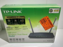 TP-LINK Archer C50 AC1200 Dual Band Wireless Router New Sealed - $36.47