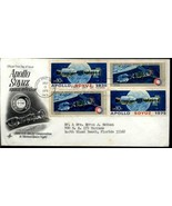 1975 UNITED STATES SC#1570A APOLLO SOYUZ BLOCK OF 4 FDC ART CRAFT COVER  - $1.28