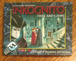 Inkognito The Card Game Fantasy Flight Deception Intrigue COMPLETE Unpunched - $19.99