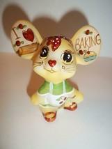 "Fenton Glass ""I Love Baking"" Kitchen Mouse Figurine GSE Ltd Ed Kim Barle... - $174.12"