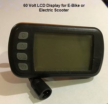 New LCD Display for Electric Scooter or E-Bike 60 Volt image 1