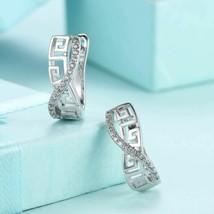 Laser Cut Swarovski Elements Swirl Design Earrings - £14.19 GBP