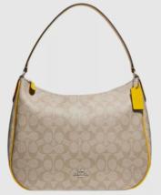 New Coach 29209 ZIp Shoulder bag in Coated Canvas handbag Light Khaki / ... - $109.00